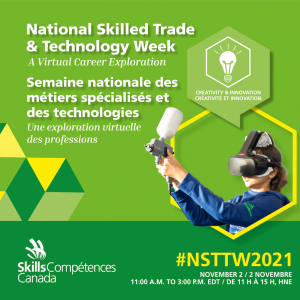 National skilled trade week virtual expo banner